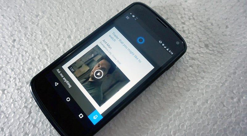 Illustration for article titled Probamos la beta filtradade Cortana para Android, y es más de lo mismo