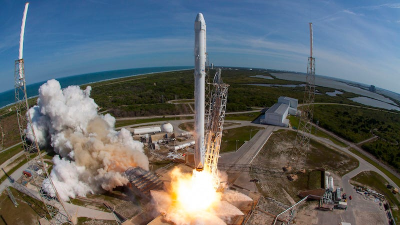 CRS-8 rocket, the first time around (Image: SpaceX)