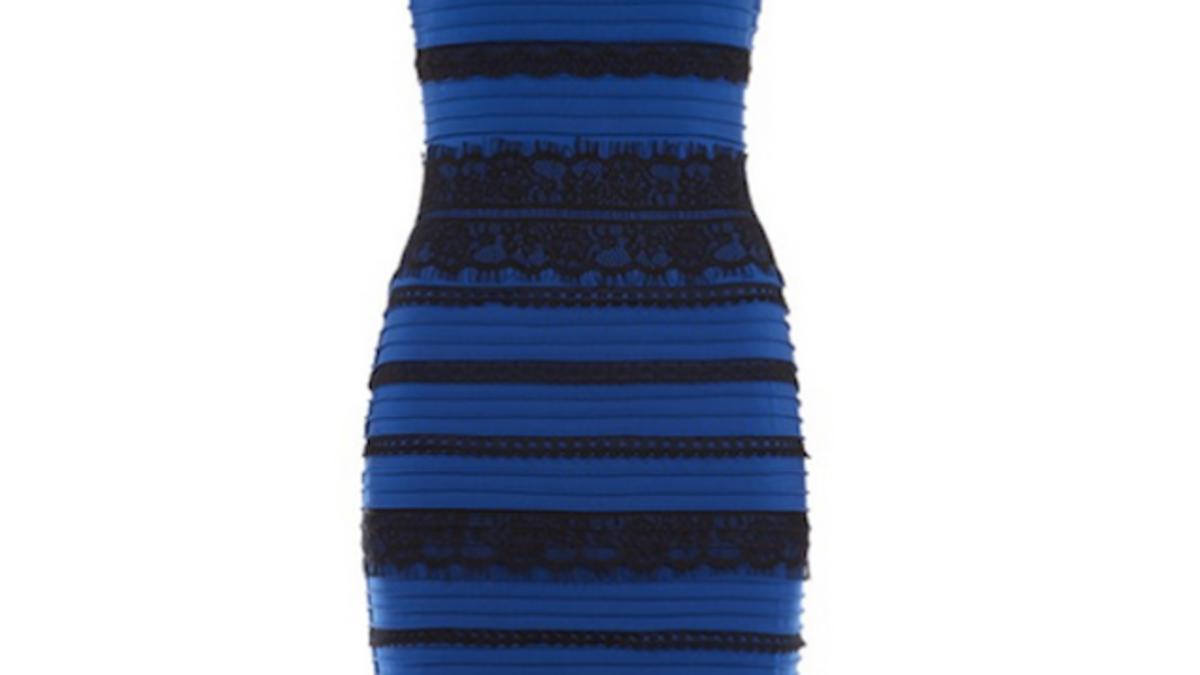 Vestido azul con negro ilusion