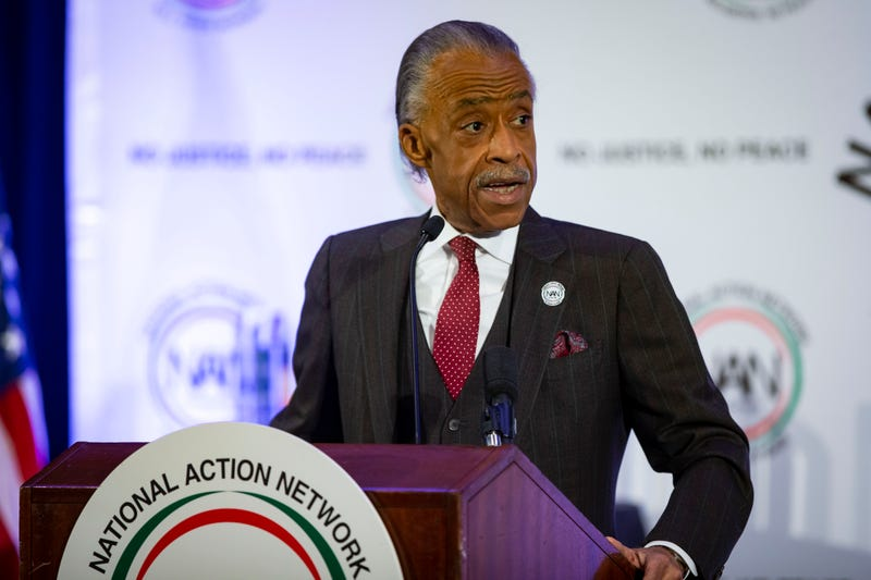 WASHINGTON, DC - JANUARY 21: Rev. Al Sharpton speaks during the National Action Network Breakfast on January 21, 2019 in Washington, DC. Martin Luther King III was among the attendees.