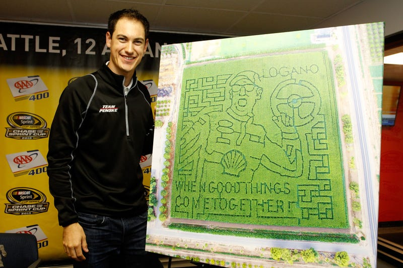 Illustration for article titled NASCAR Driver Joey Logano Gets His Own Corn Maze And We're All Pretty Jealous