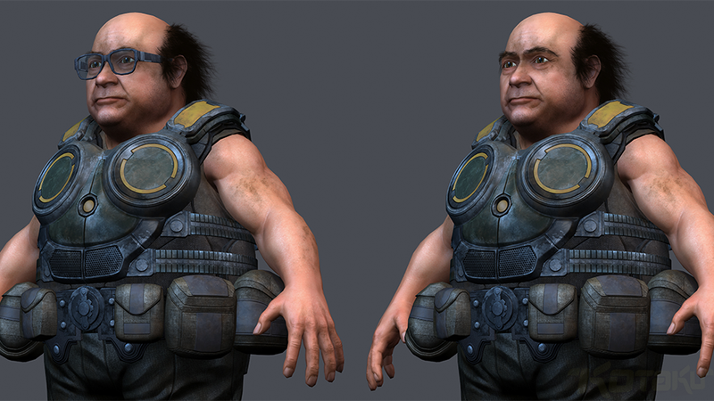 Illustration for article titled Danny DeVito + Gears Of War = Day Made
