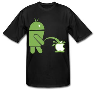 Illustration for article titled Wave Your Immature Android Fanboy Flag on Your Chest