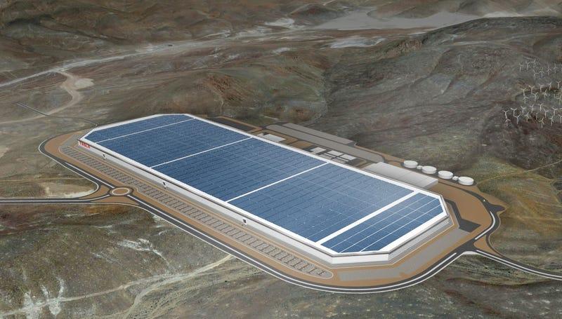 Imagen: Gigafábrica de Tesla.