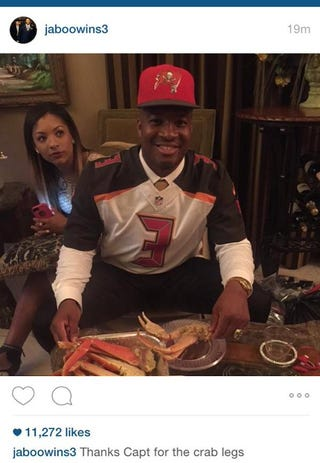 Illustration for article titled Jameis Winston Celebrates Draft With Crab Legs, Deletes Photo