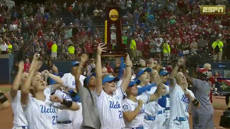 UCLA walks off in Game 2 vs. Oklahoma to win 13th national championship in softball