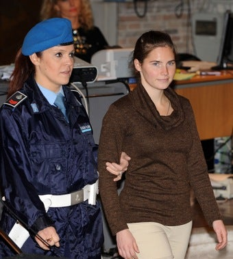 """Illustration for article titled Defense Claims Female Officers """"Had It In For"""" Amanda Knox"""