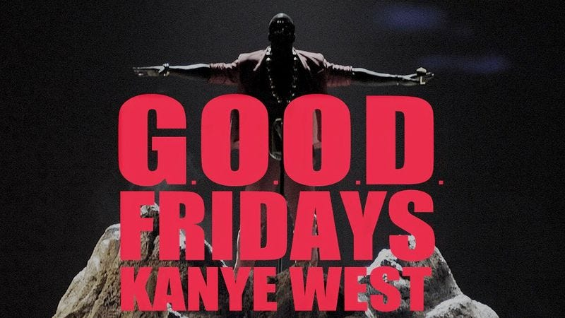 Illustration for article titled Cataloging G.O.O.D. Fridays: Kanye West's beautiful dark twisted promotional campaign