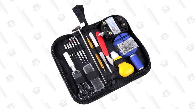 Ohuhu 147 PCS Watch Repair Tool Kit Case Opener Spring Bar Tool Set Bonus A Hammer | $14 | Amazon