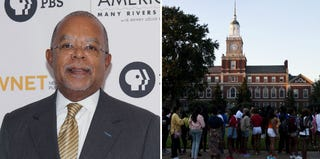Henry Louis Gates Jr. (Mireya Acierto/Getty Images); students at Howard University (the Washington Post/Getty Images)