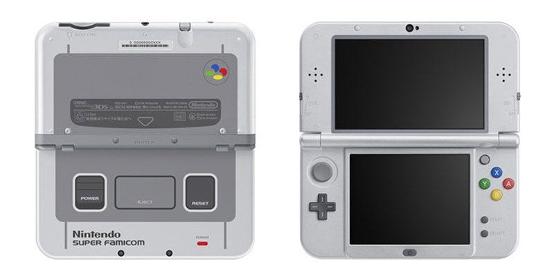Illustration for article titled Nintendo's SNES-Themed 3DS Is Just Beautiful