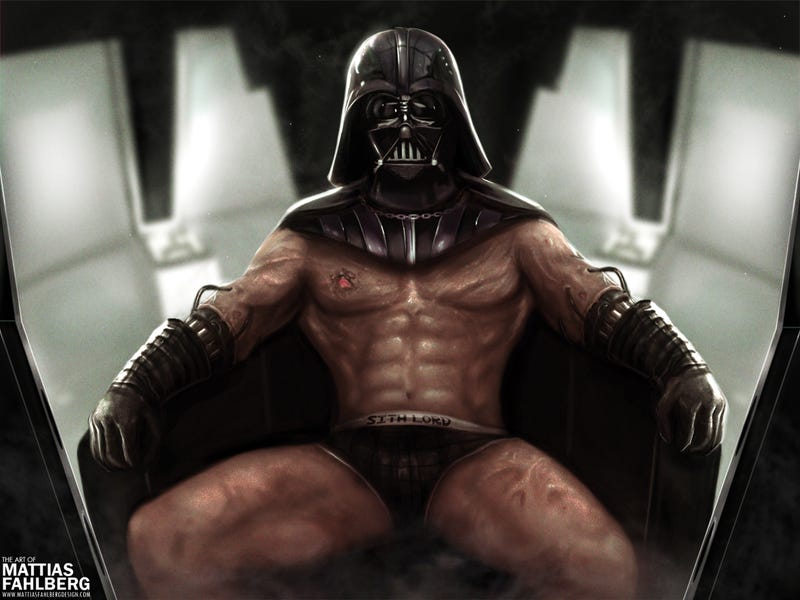 Illustration for article titled Who wants to see a mostly naked, grotesquely jacked Darth Vader?