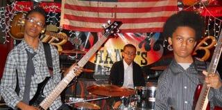 Members of the band Unlocking the Truth: Alec Atkins, Jarad Dawkins and Malcolm Brickhouse (unlockingthetruthband.com)