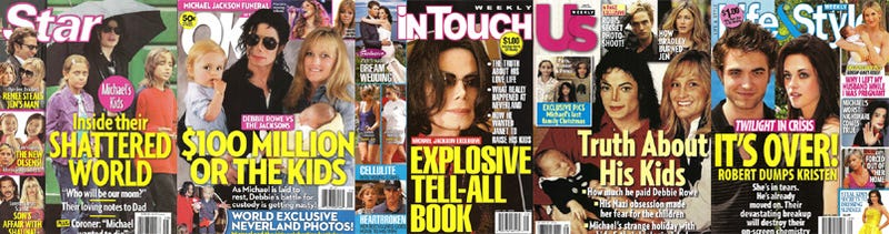 Illustration for article titled This Week In Tabloids: Michael's Drug & eBay Addiction; Twilight Star Put In Box