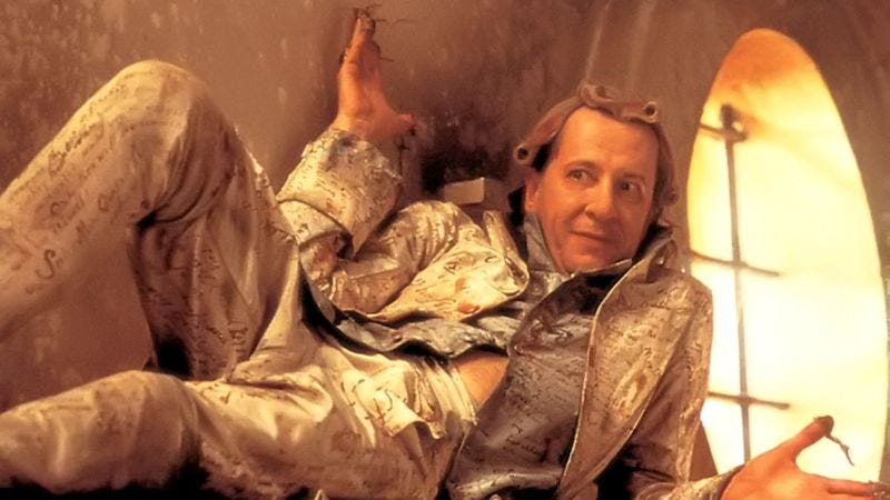 Geoffrey Rush as the Marquis De Sade in Quills