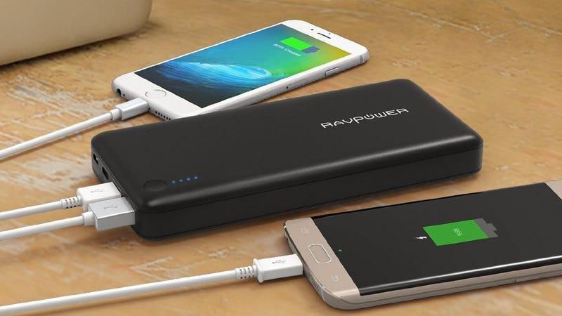 RAVPower 20100mAh Battery Pack, $56 with code 8MBB8FP2