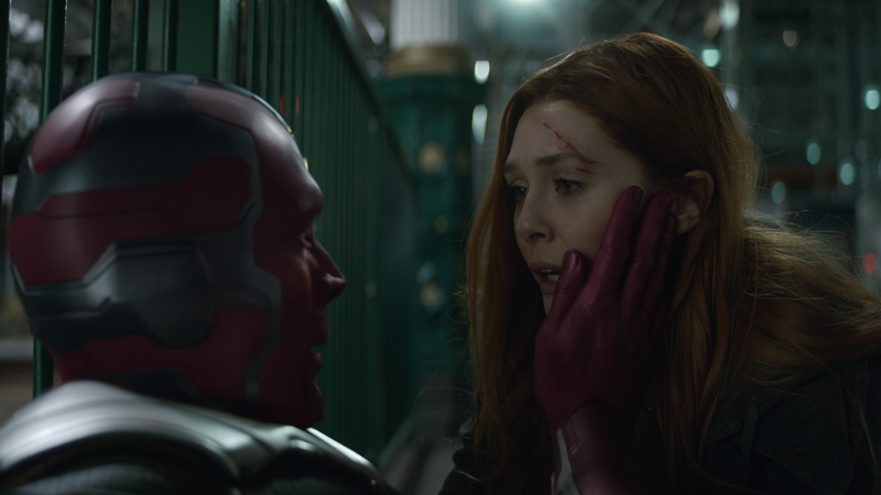 The Vision and Scarlet Witch.