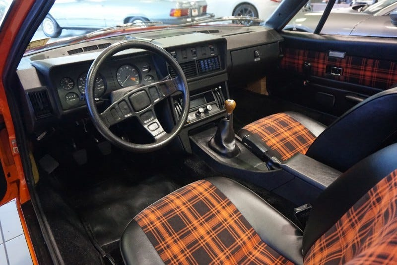 Illustration for article titled There's A Brand New 1980 Triumph TR7 With A Tartan Interior For Sale In New Jersey