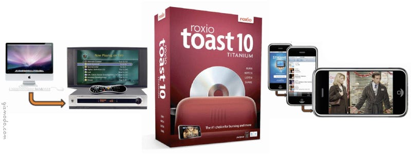 Illustration for article titled Roxio Toast 10 Titanium Burns Media, Streams to iPhone, Transfers Video Files to Your Tivo