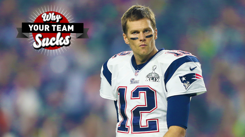 Illustration for article titled Why Your Team Sucks 2015: New England Patriots