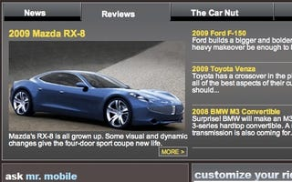 Illustration for article titled That Mazda RX-8 Sure Looks Like a Fisker Karma