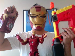 Illustration for article titled Iron Man Toys: Guns and Action Figures...Made of Plastic
