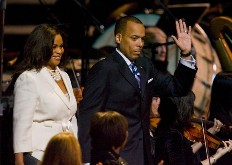 Hilary Green with her now ex-husband in 2010 (Karen Warren/Houston Chronicle)