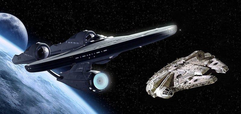 Illustration for article titled Star Wars Vs Star Trek:Neil deGrasse Tysonelige la mejor nave de la ciencia-ficción