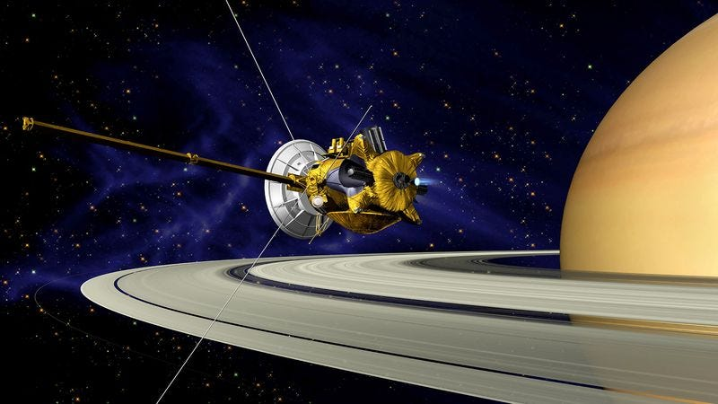 Illustration for article titled Cassini Probe Realizes Too Late This Was A Setup All Along