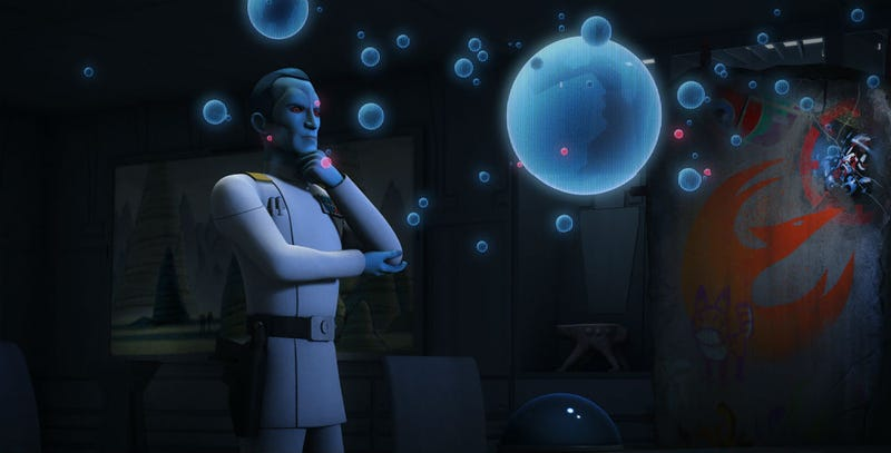 Illustration for article titled Thrawn's Office on Star Wars Rebels Was Full of Easter Eggs (UPDATED)