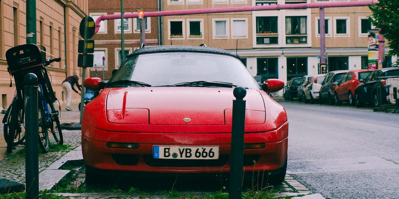 A 1990s Lotus Elan on the streets of Berlin, just a short walk from my old apartment. Photo Credit: Raphael Orlove