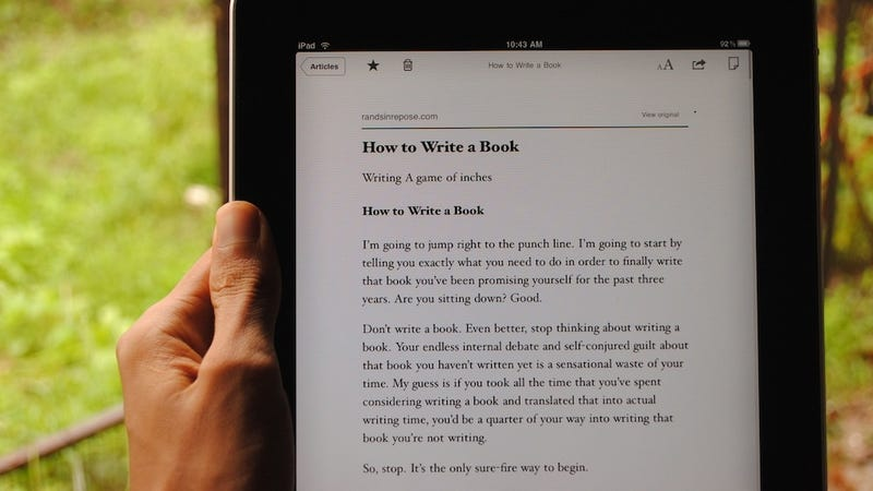 Close Instapaper and start writing. (Photo by smokingapples.com)