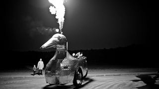 """Illustration for article titled Yes, This is a Flame-Shooting Russian """"Duckmobile"""""""