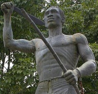 Gaspar Yanga's statue in the town named after him(Erasmo Vasquez Lendechy)