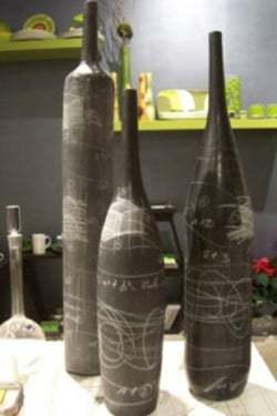 Turn old wine bottles into chalk art for What kind of paint to use for wine bottles
