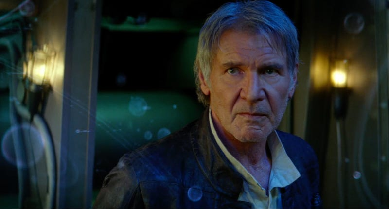 Illustration for article titled Harrison Ford Says Han Solo's Lines in The Force Awakens Trailers Aren't What They Seem
