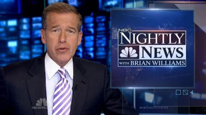 Illustration for article titled Read This: The messy history of NBC News and the Brian Williams fiasco