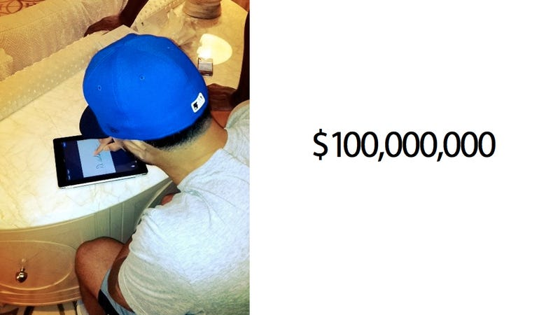 Illustration for article titled How You Sign a $100 Million Contract These Days: With an iPad