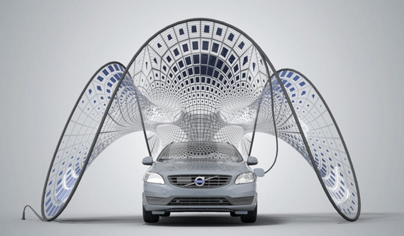 Illustration for article titled Volvo's Folding Solar Panels Are Basically The Coolest Thing Ever