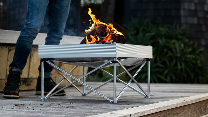 Fireside Outdoor Pop-Up Fire Pit and Heat Shield Combo Kit | $78 | Huckberry