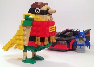 Illustration for article titled Lego Batman's New Sidekick: A Literal Lego Robin