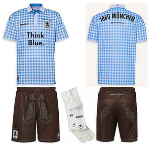 Illustration for article titled Apparently 1860 Munich Really Will Wear This Oktoberfest Kit In-Game
