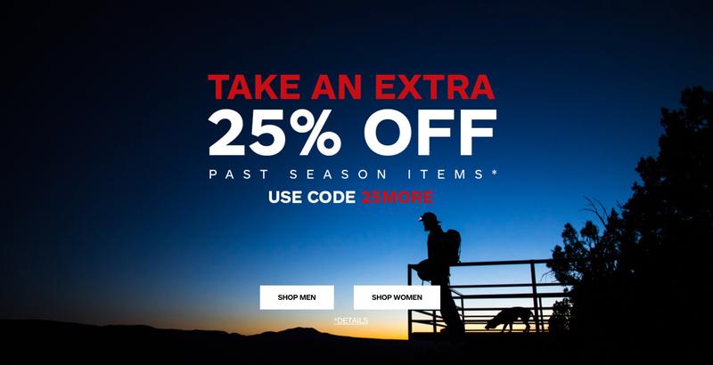 Extra 25% off Past Season Items   Marmot