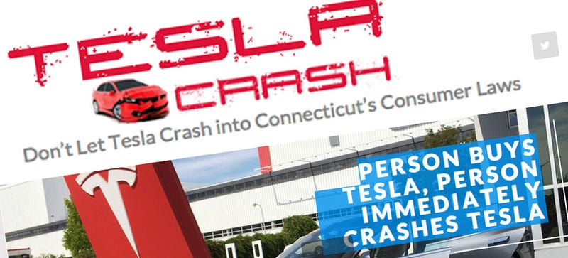 Illustration for article titled Connecticut Car Dealers Have A Stupid Anti-Tesla Website To Scare You