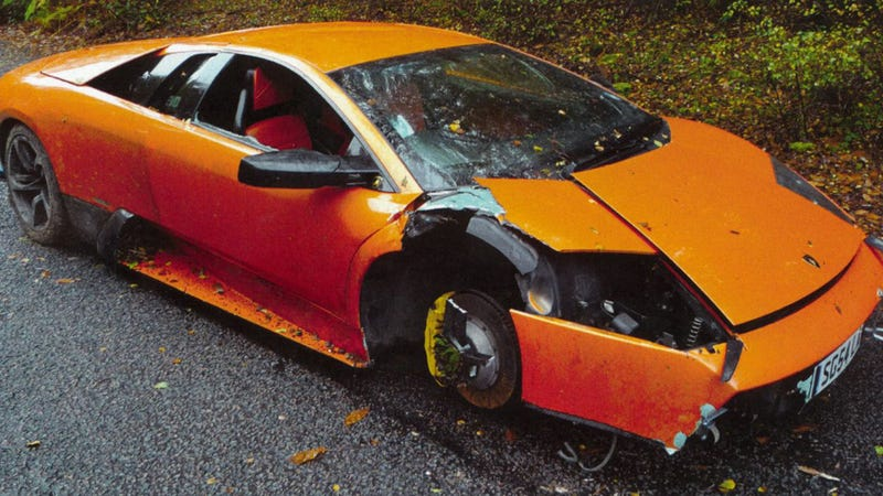 Illustration for article titled Someone Crashes The World's Highest Mileage Lamborghini Murcielago