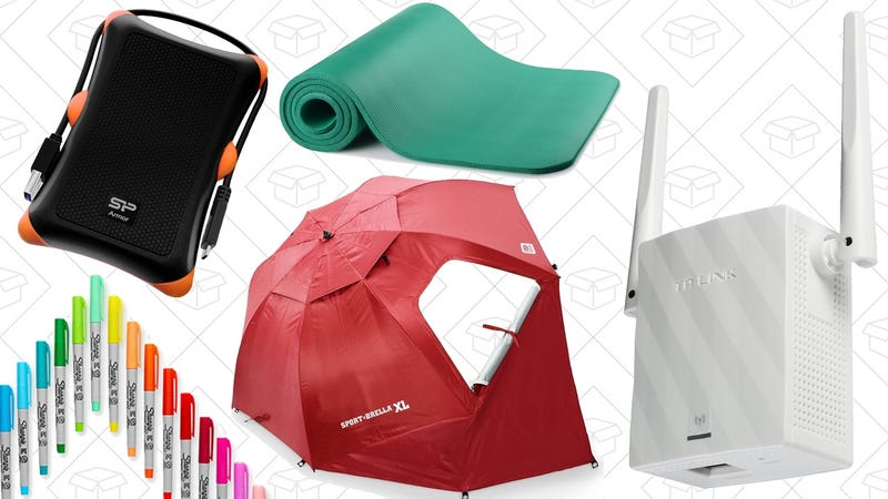 Illustration for article titled Today's Best Deals: Sport-Brella XL, Wi-Fi Range Extender, Yoga Mat, and More