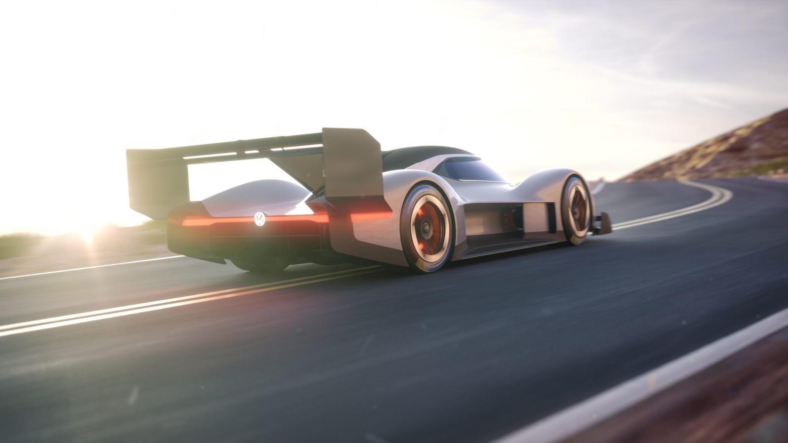 Volkswagen's All-Electric Pikes Peak Race Car Looks Like Something From Our Terrifying Sci-Fi Future