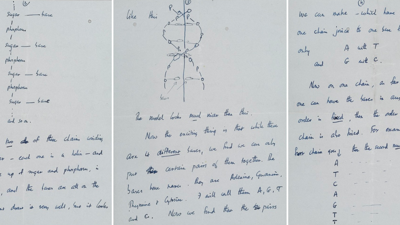 Illustration for article titled Whoa, Francis Crick's DNA letter has sold for $5.3 million!