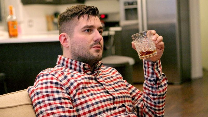 Illustration for article titled Man Going To Take Edge Off With Decades-Long Slide Into Alcoholism