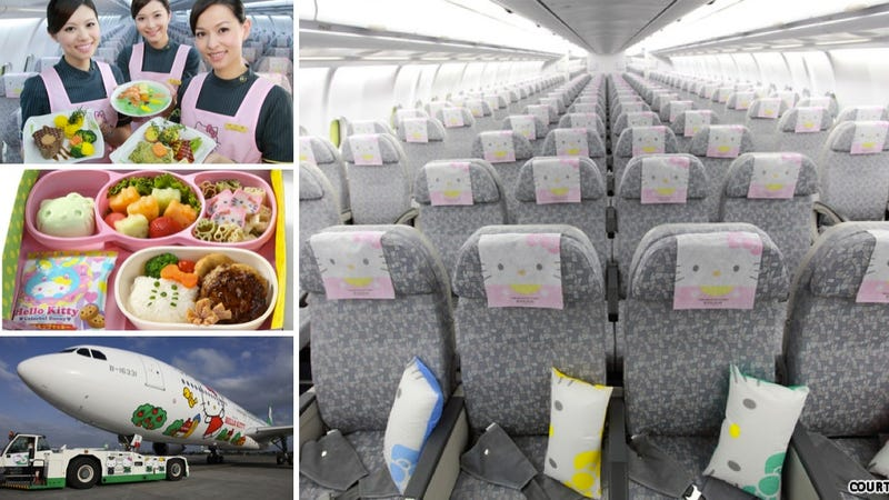 Illustration for article titled Just How Cute Is the Hello Kitty Plane? Pretty Damn Cute.